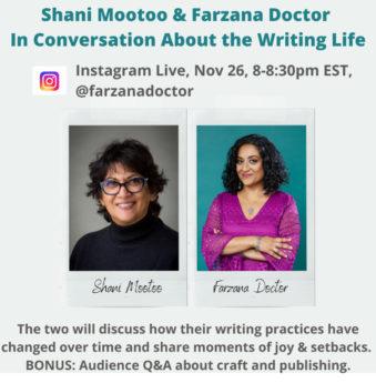 photo of Farzana and Shani for Nov 26th 8pm Instagram Live event